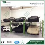 工場3500kgはParking&#160のための4つのポストの自動車揚げべらをケーブル運転する;