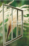 Алюминиевая стеклянная раздвижная дверь с сетью экрана