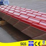 Красный покрашенный стальной лист плитки толя