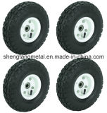 "10 "" pollici Air Inflatable Rubber Wheels con Rim Dolly Tire Wheel New"