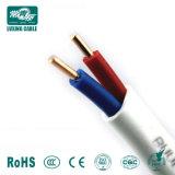 Fil de la Chambre électrique - base de cuivre isolés en PVC 2 coeurs BVVB / fil électrique du câble plat câble plat