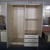MDF Garderobe van het Meubilair van de Slaapkamer van het Ontwerp van de Melamine de Materiële