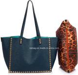 D'avanguardia sacchetto di Tote di cuoio fissato nuovo blu marino dell'unità di elaborazione della borsa della spalla