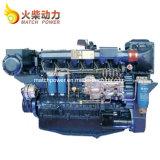 Bajo consumo de combustible Weichai 350CV motor marino Wp12 Motor diésel de barcos