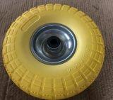 3.50-4 단단한 PU는 타이어 손 트롤리 거품이 일었다
