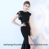 Reizvolle formale schwarze Spitze-lange Nixe-Abend-Kleider