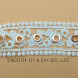 Accessori materiali di rame dell'indumento dell'occhiello del merletto dell'occhiello dell'argento e del cotone
