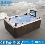 Monalisa 옥외 호화스러운 텔레비젼 (M-3342)를 가진 가족에 의하여 사용되는 온천장 온수 욕조