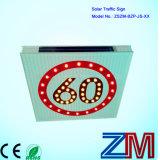 Алюминиевый корпус солнечной светодиод мигает дорожного знака для ограничения скорости движения