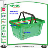 grüner Einkaufskorb des Supermarkt-28L