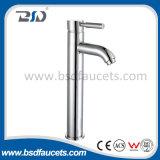 Faucet prolongado do dissipador do banheiro das torneiras de misturador da bacia do cromo de bronze chinês