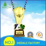 Médaille découpée par alliage en métal d'émail de constructeur de la Chine pour le souvenir de sport