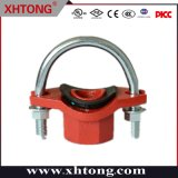 Raccordo a T meccanico per tubo scanalato in ferro duttile FM UL per antincendio, cemento, liquame