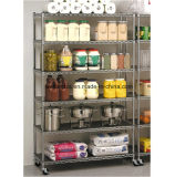 High-Capacity Commercial Restaurant Hôtel Chrome Metal Display Rack