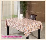 Pano de mesa de PVC com suporte de flanela para banquete