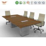 高い上の会合表、会合表デザイン、小さい円形のオフィスの会合表