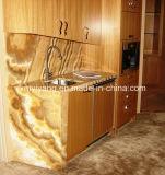 Base d'appoggio di legno gialla poco costosa del marmo del granulo (YQC-MC1003)