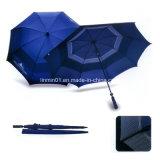 カスタマイズされるハンドルマニュアルの開いた繭紬のまっすぐなゴルフ傘をゴム加工しなさい
