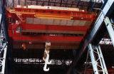 De dubbele Kraan die van de Gieterij van de Kraan van de Kraan van de Gietlepel van de Balk Gietende Gietlepel overhandigen