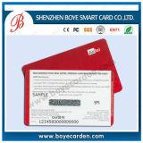Raspe de plástico para recarregar o cartão de telefone pré-pagos