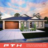 China prefabricados, Villa de lujo casa para vivir con dormitorios y balcón/Garaje