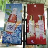Лампа освещения улиц на открытом воздухе Coloumn рекламы привело PP бумаги Flex баннер с подсветкой блок освещения рекламных щитов