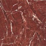 Azulejo de suelo esmaltado por completo pulido de la porcelana de Brown de la selva tropical 600*600