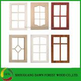 シンプルな設計のキャビネット木ガラスドアデザイン