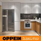 Governi modulari di legno delle unità della cucina della melammina a forma di U moderna della lacca (OP16-L05)