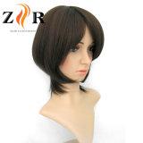 Perruque synthétique de circuit de cheveu de température élevée