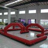 Futebol insuflável vermelho Bilhar