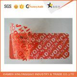 Collant rouge fait sur commande d'hologramme de vide de ruban adhésif de garantie pour le cadre