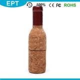 Rotwein Flasche geformtes hölzernes USB-Blitz-Laufwerk (TW009)