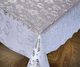 Roll GoldまたはSilver Coatedの137 Cm Vinyl PVC Lace Crochet Table Cloth