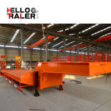 Машинное оборудование транспортируя 50 низкого тонн трейлера кровати Semi