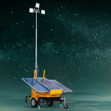 頑丈な油圧持ち上がる構築LED太陽移動式軽いタワー