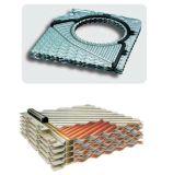 2つの特別な角のガスケットを持つ有能な半溶接された版の熱交換器