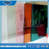 장식을%s 0.38mm/0.76mm 유백색 분홍색 또는 파란 PVB를 가진 안전 박판으로 만들어진 유리