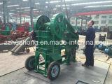 Pequeña trituradora de quijada de piedra portable móvil PE150*250 con el motor diesel