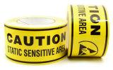 Il ESD lega il nastro con un nastro d'avvertimento del locale senza polvere ESD per le zone statiche