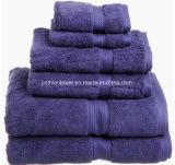 De fabriek levert In het groot Dobby 100 de Katoenen Geplaatste Badhanddoeken van het Hotel 32s/2