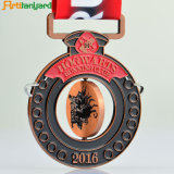 Design personalizado Sports Medalha de metal com revestimento de diferentes
