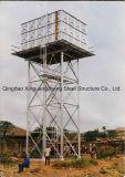 Torretta della struttura d'acciaio per il serbatoio di acqua