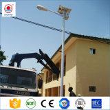 セリウム、Soncap、ISOは10/20/30/50W LEDおよびゲルのアフリカの市場のためのリチウム電池の太陽LEDの街灯を承認した