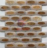 Lucido Volto su Matt faccia Mirror Ti piace Marmo mosaico di pietra (CFS1076)