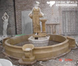 石造りの大理石の切り分ける水噴水
