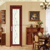 Дверь самого лучшего ровного поверхностного покрытия изолируя стеклянная алюминиевая