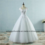 Spitze-Tulle-Hochzeits-Kleid für Braut-schützendes Hülsen-Kleid