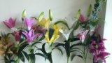 Flores artificiais do toque natural do lírio de tigre Img_20160206_144639