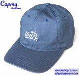 Surtidor de encargo del sombrero del papá del azul de marina del algodón
